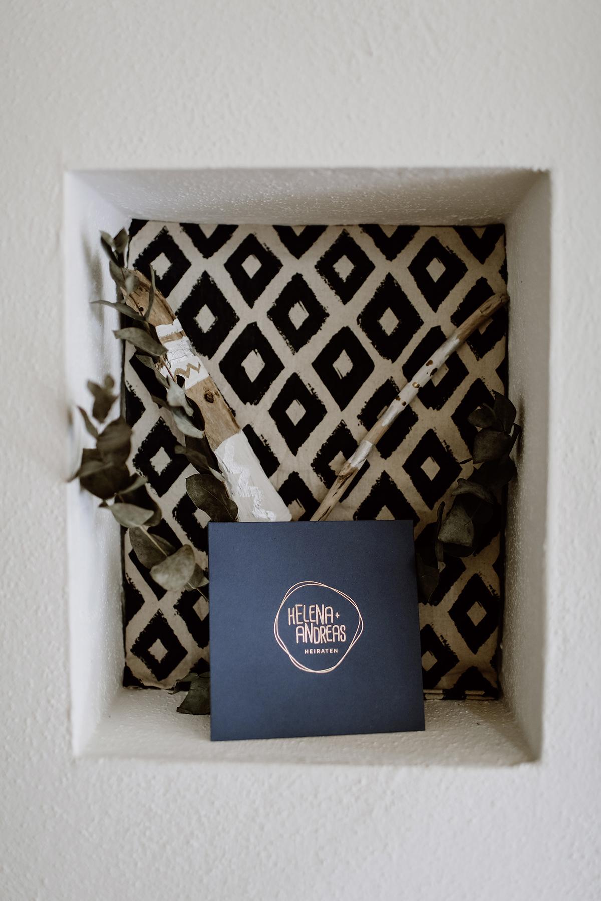 Gästebuch Hochzeit urban nordisch skandinavisch modern in Blau Kupfer