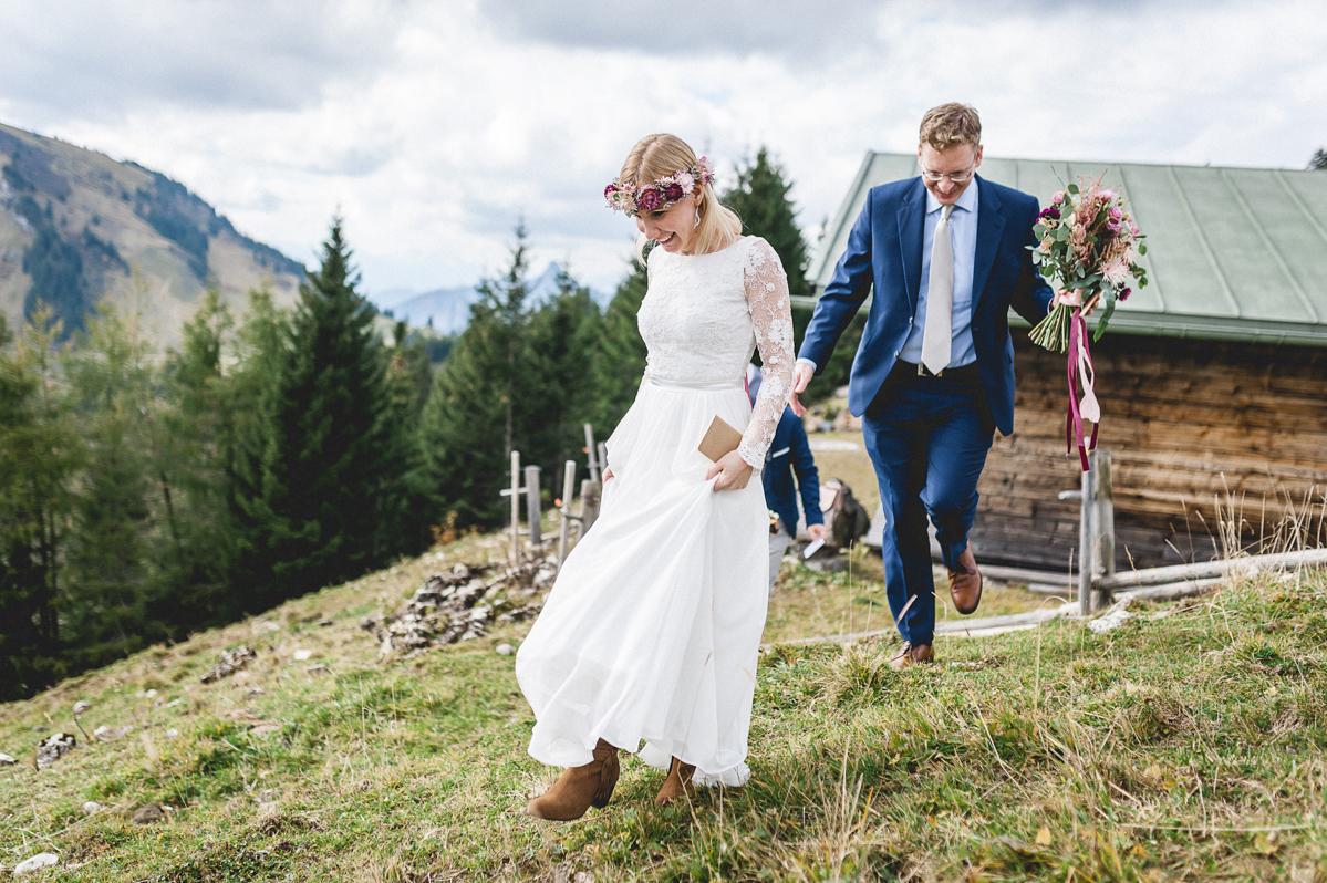 Hochzeit Am Berg Auf Der Rossl Alm In Gerlos Im Zillertal In Tirol