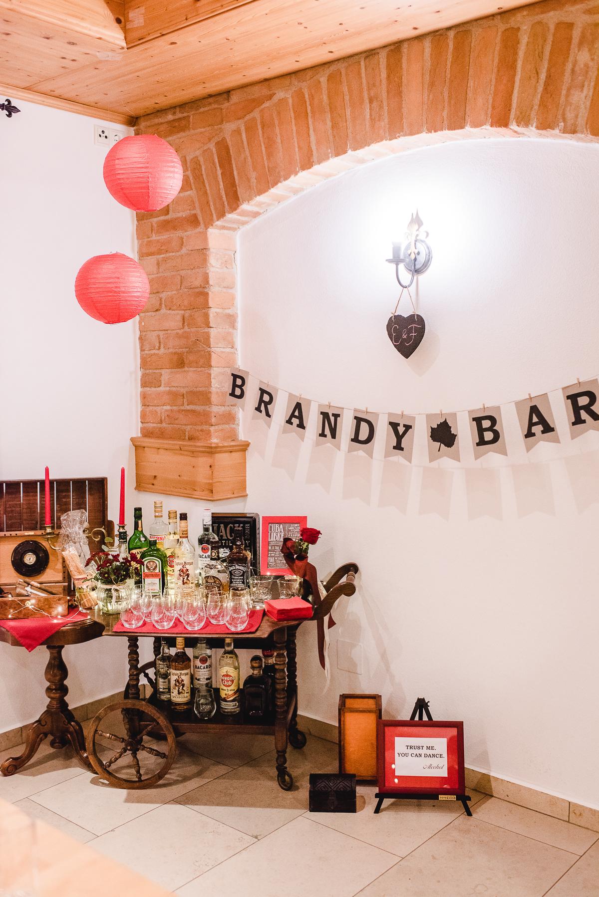 Brandy Bar, brandy Bar Hochzeit, Getränkebar Hochzeit