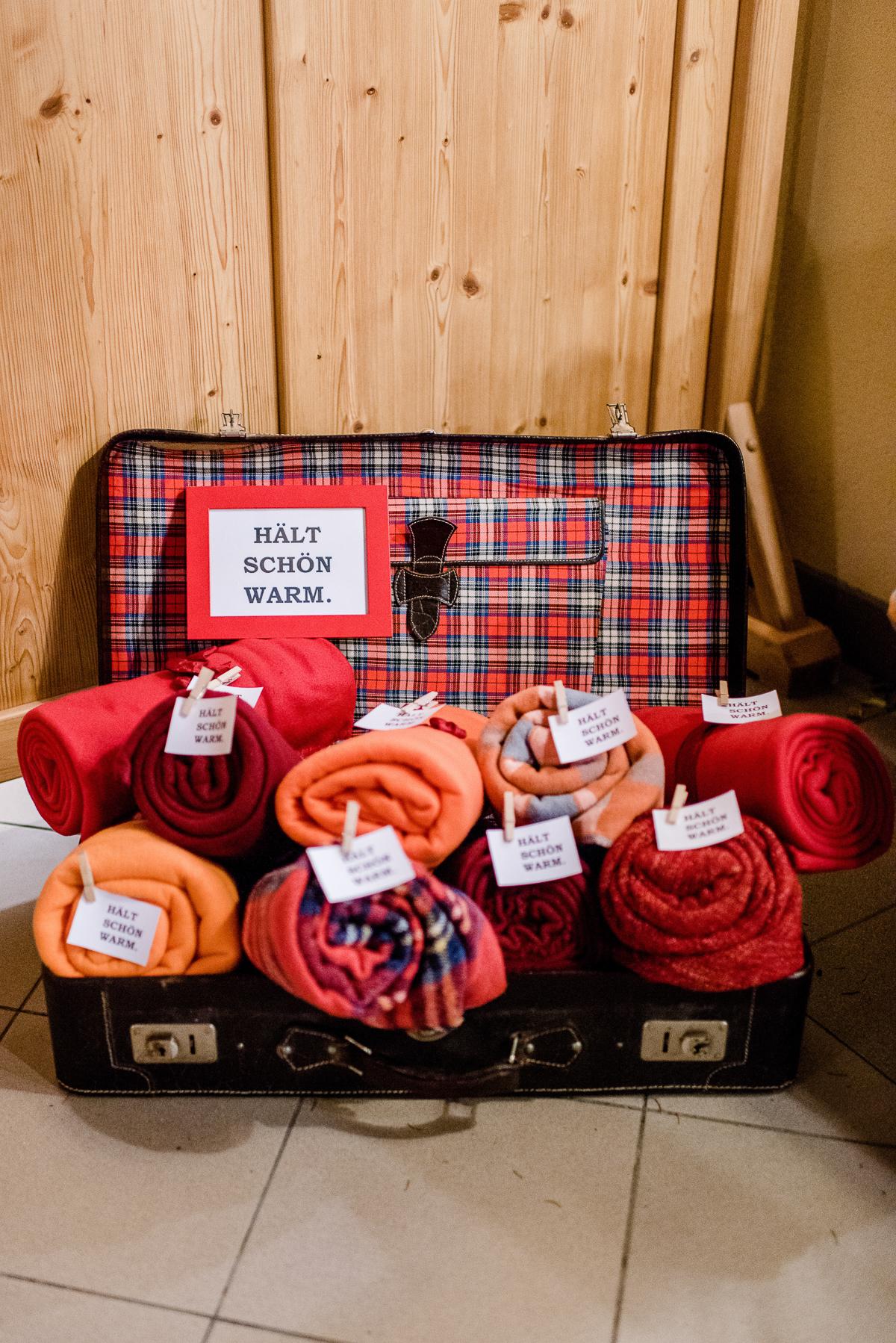 Herbsthochzeit Decken, Decken als Gastgeschenk, Decken Hochzeit Gastgeschenk
