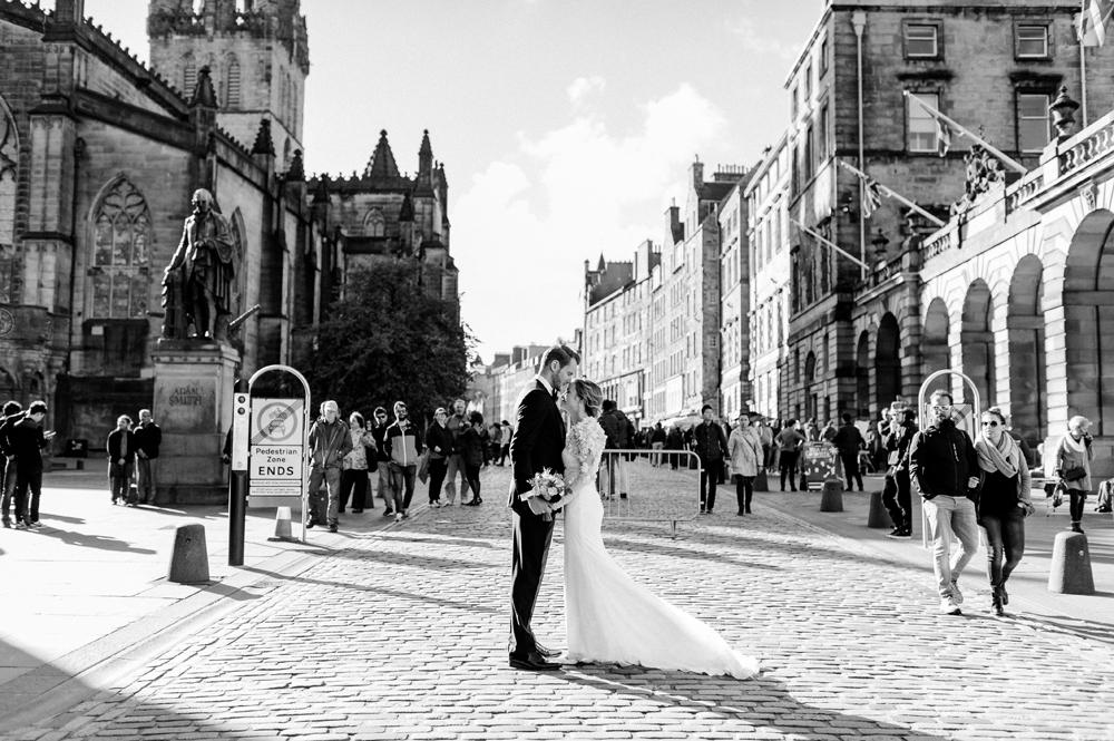 Eine Hochzeit in Edinburgh