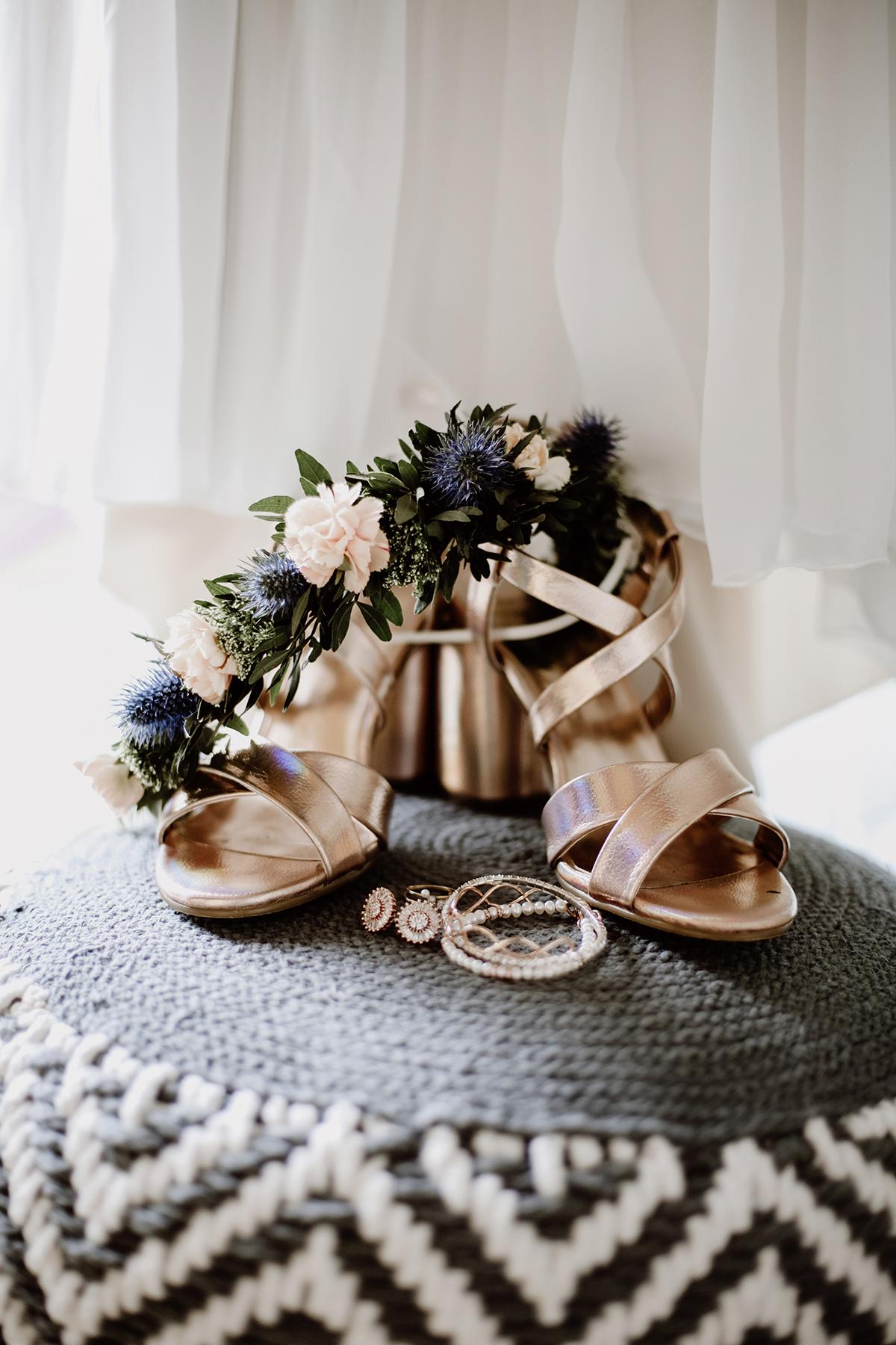 Brautschuhe Kupfer Rosegold