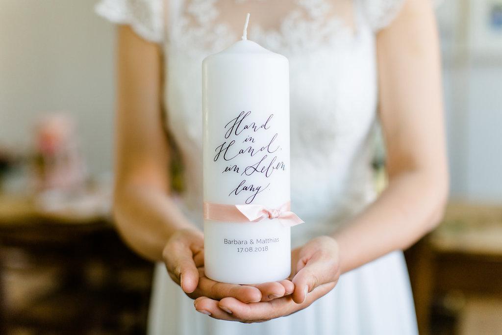 Hochzeitskerze modern, Hochzeitskerze Hand in Hand, Hochzeitskerze Vintage, Traukerze modern