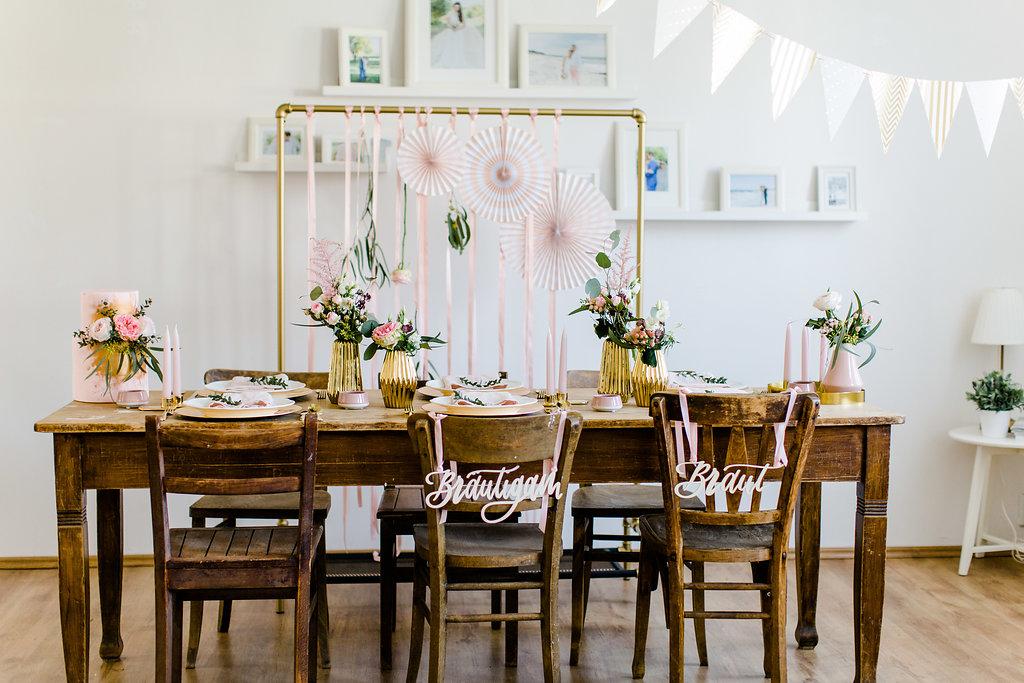 Stuhlschilder Hochzeit Braut Bräutigam