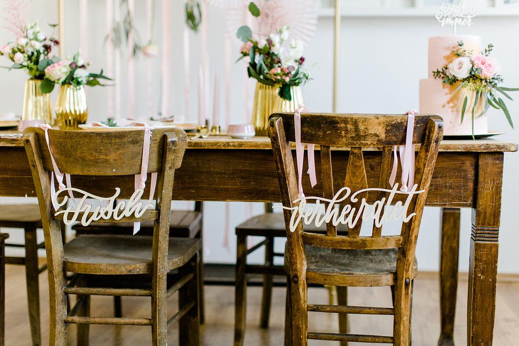 Stuhlschild Hochzeit, Schild Braut Bräutigam Hochzeit