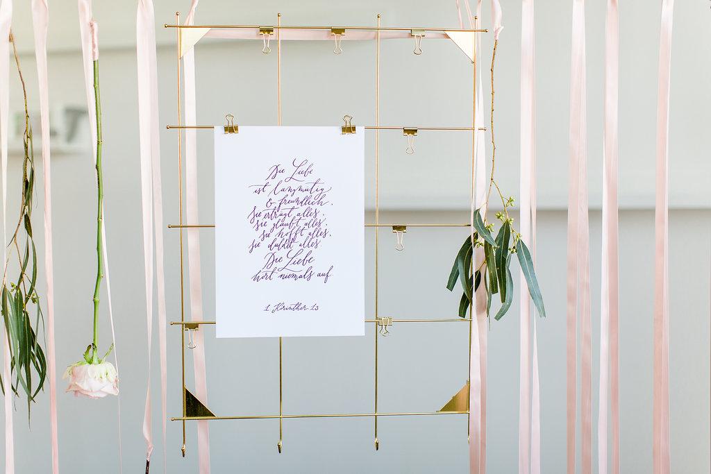 Hochzeitsposter Korintherbrief, Geschenk zur Hochzeit