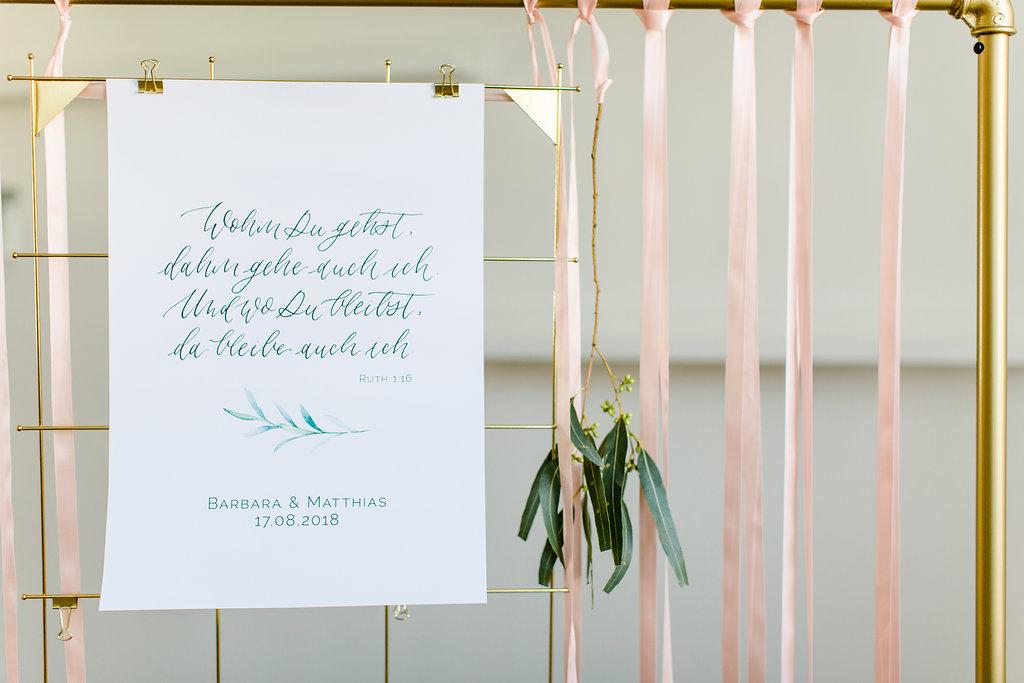 Hochzeit Poster Buch Ruth Wohin du gehst