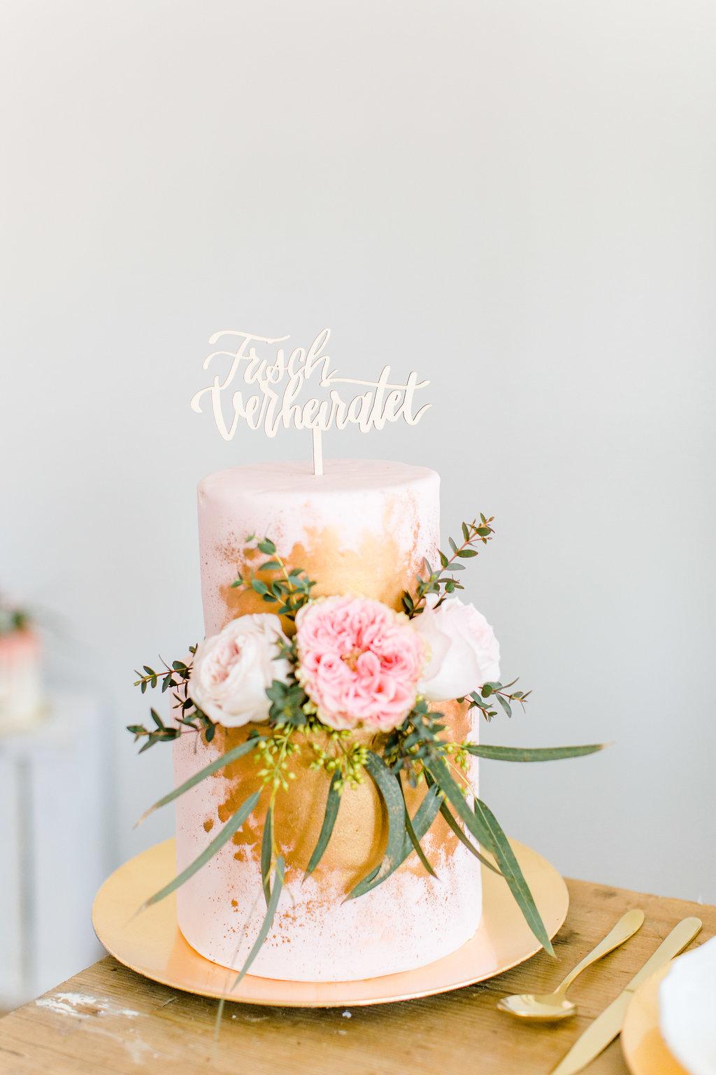 Cake Topper Just married deutsch, Cake Topper Hochzeit, Tortentopper Hochzeit
