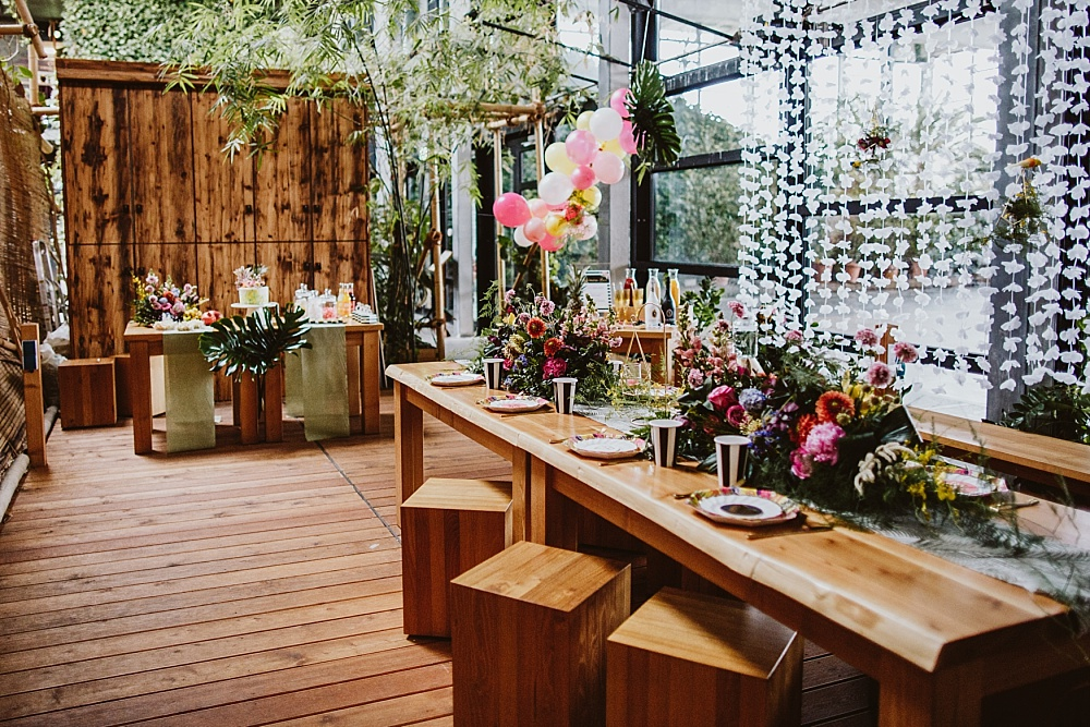 Brautparty Tropical, Urban Jungle Bridal Shower statt Junggesellinnenabschied Berlin