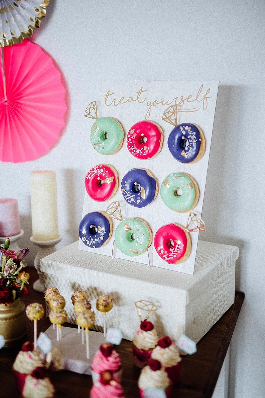 Donut Wall für Brautparty