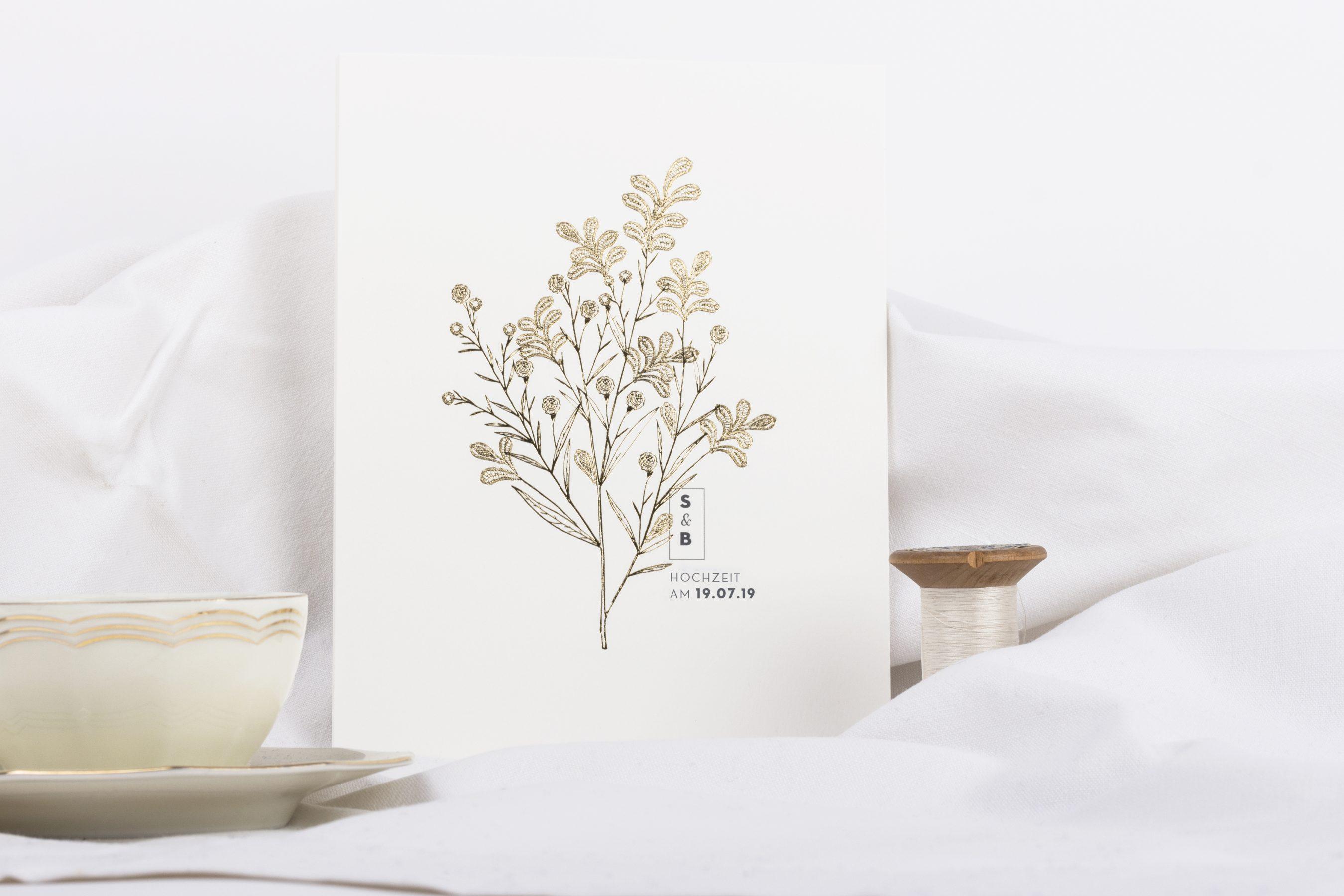 Edle Hochzeitskarten Von Atelier Rosemood Hochzeitsblog The Little