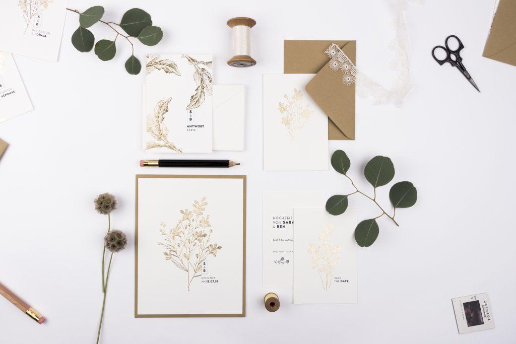 Edle Hochzeitskarten von Atelier Rosemood