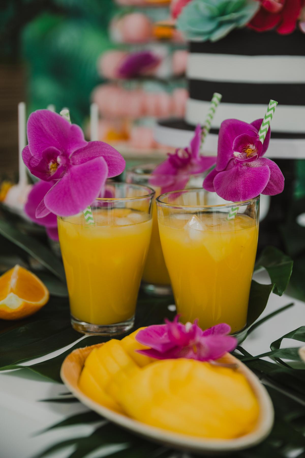 Getränkebar für Sommerhochzeit, Getränkebar für Hochzeit tropisch