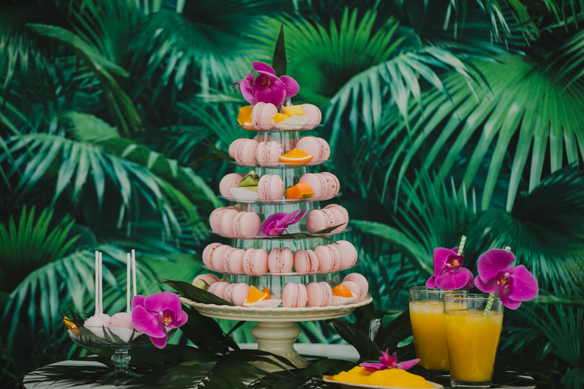 Macarons Hochzeit Sweet Table