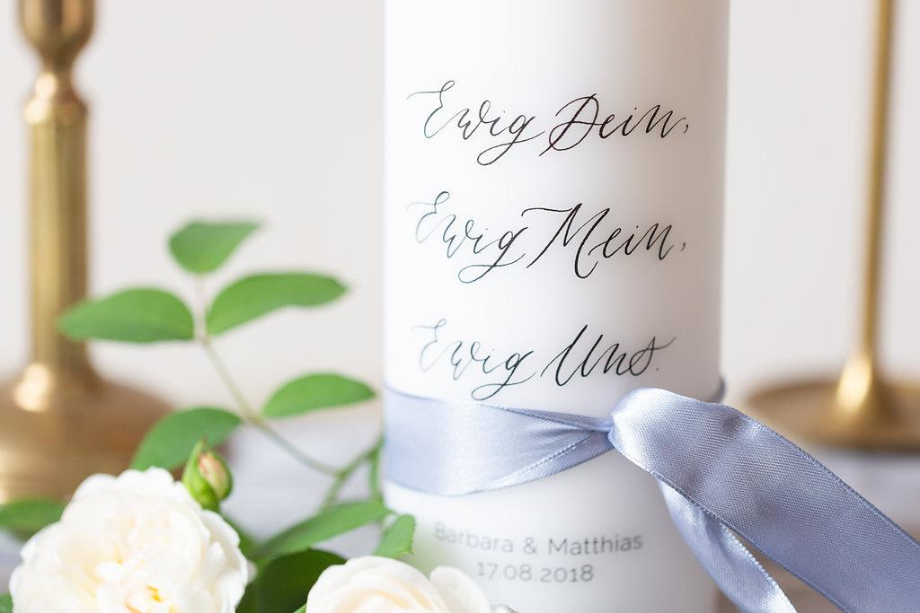 Ewig Uns Hochzeitskerze individuell