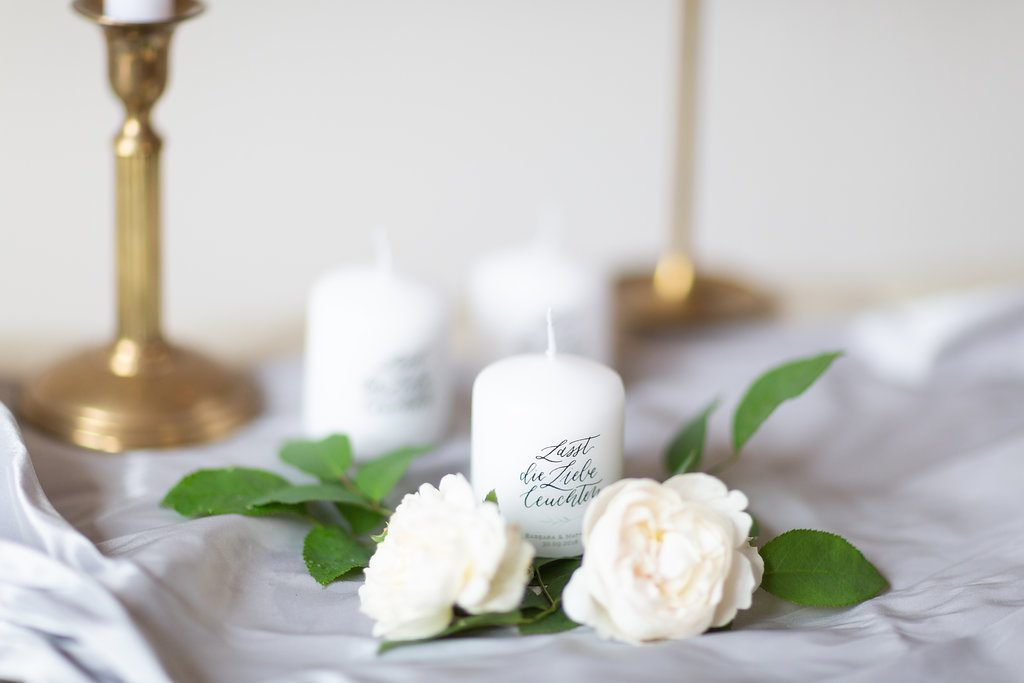 Lasst die Liebe leuchten – Kleine Kerzen als Gastgeschenk zur Hochzeit