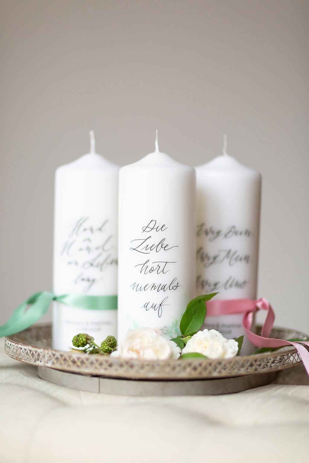 Personalisierte Hochzeitskerze Und Individuelle Traukerze Mit Namen
