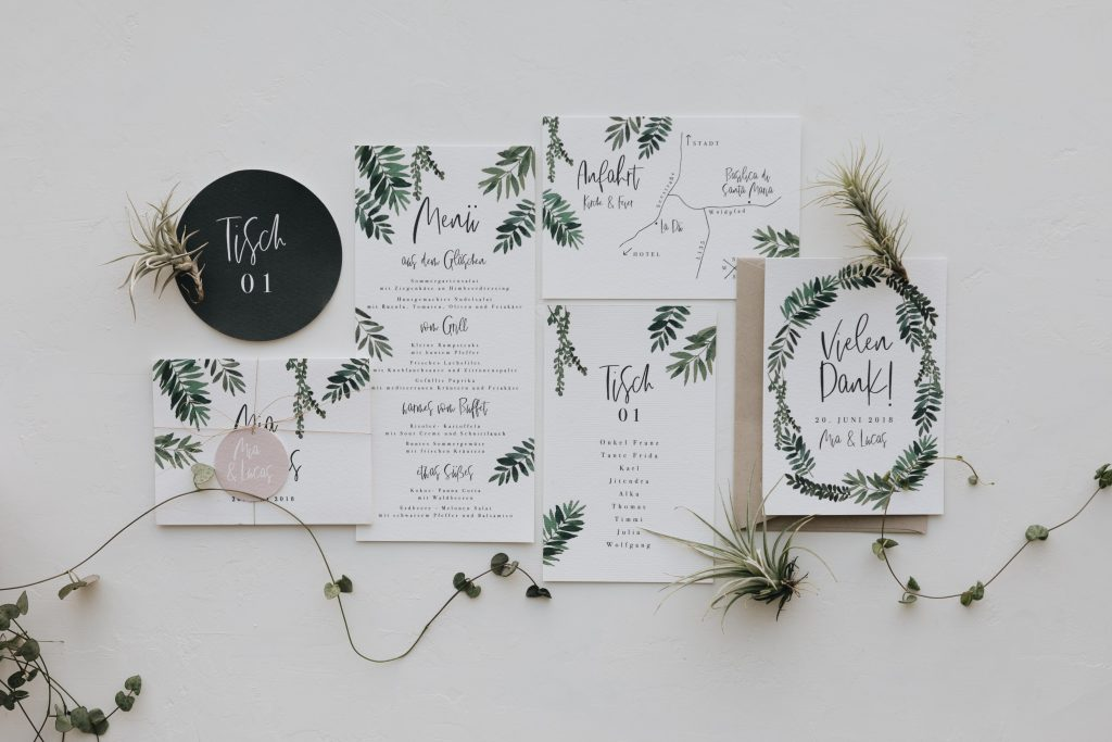 Hochzeitskarten und Dekoverleih von Traumanufaktur nach skandinavischem und mediterranem Design