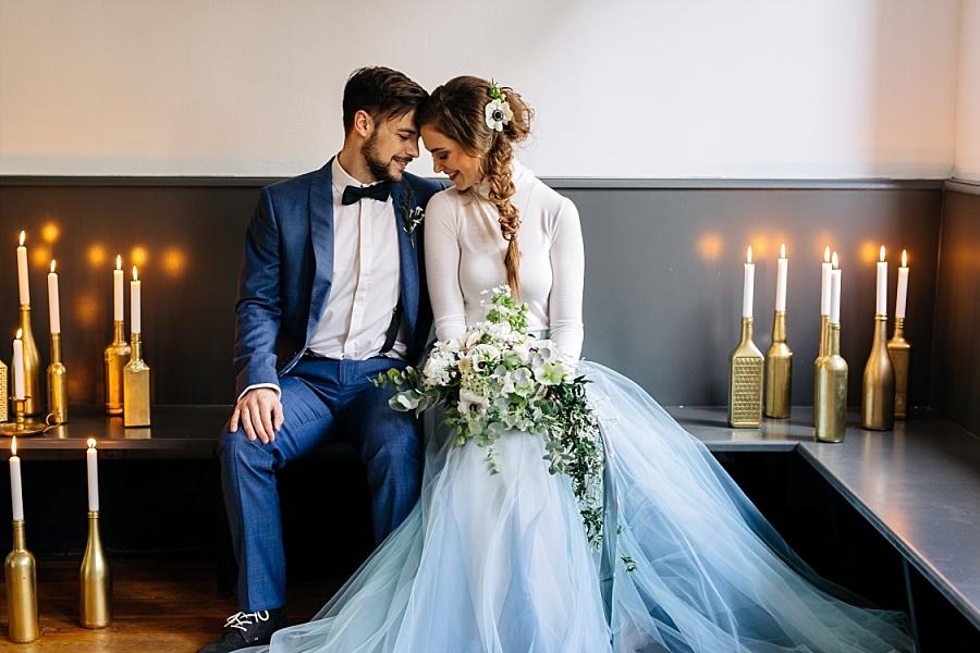 Dusty Blue Fine Art Hochzeitsideen