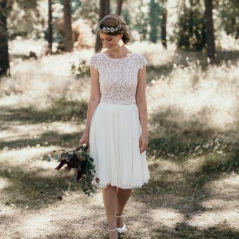 Brautkleider für das Standesamt von Claudia Heller 2019