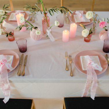 Hochzeitsfarbe Rosa ganz modern und urban umsetzen