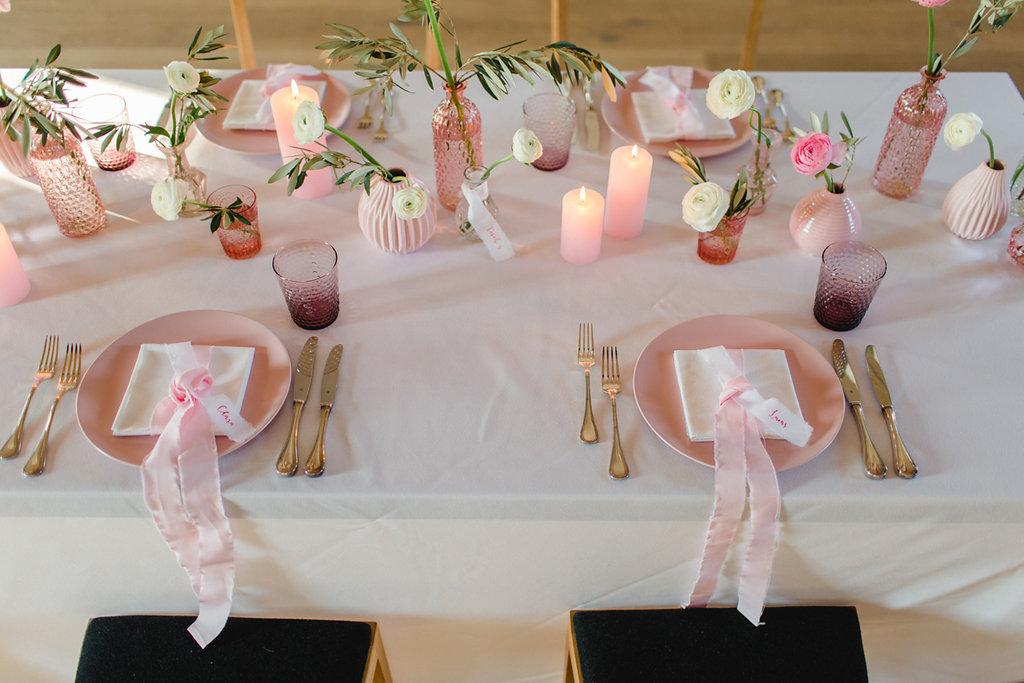 Hochzeit Tischdeko Ideen Pastell, Tischdeko Hochzeit Rosa, Tischdeko Hochzeit Pastell, Rosa als Hochzeitsfarbe modern