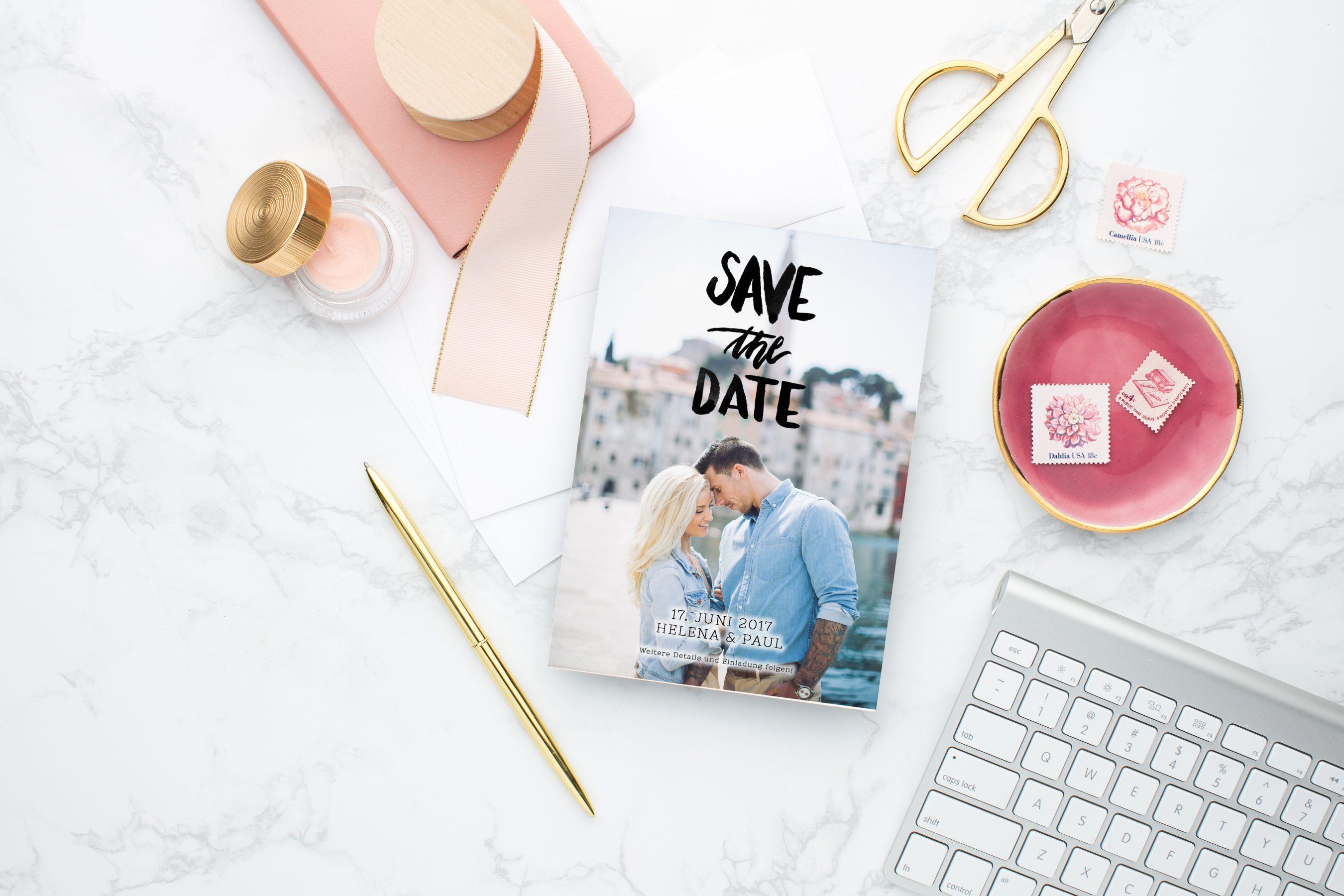 5 ideen f r individuelle save the date karten 2019 hochzeitsblog the little wedding corner. Black Bedroom Furniture Sets. Home Design Ideas