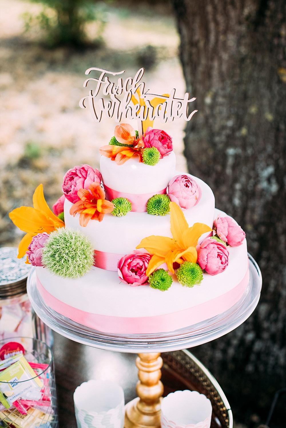Cake Topper Just married deutsch, Cake Topper Hochzeit