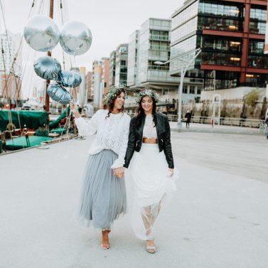 Winter in the City – Eine Bridal Party in Hamburg