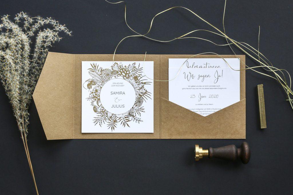 Hochzeitskarten mit Pocketfolds von Herzkarten