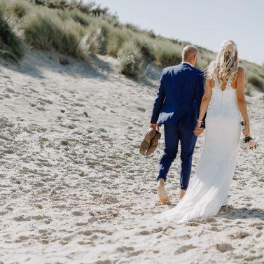Lässige Strandhochzeit in Holland