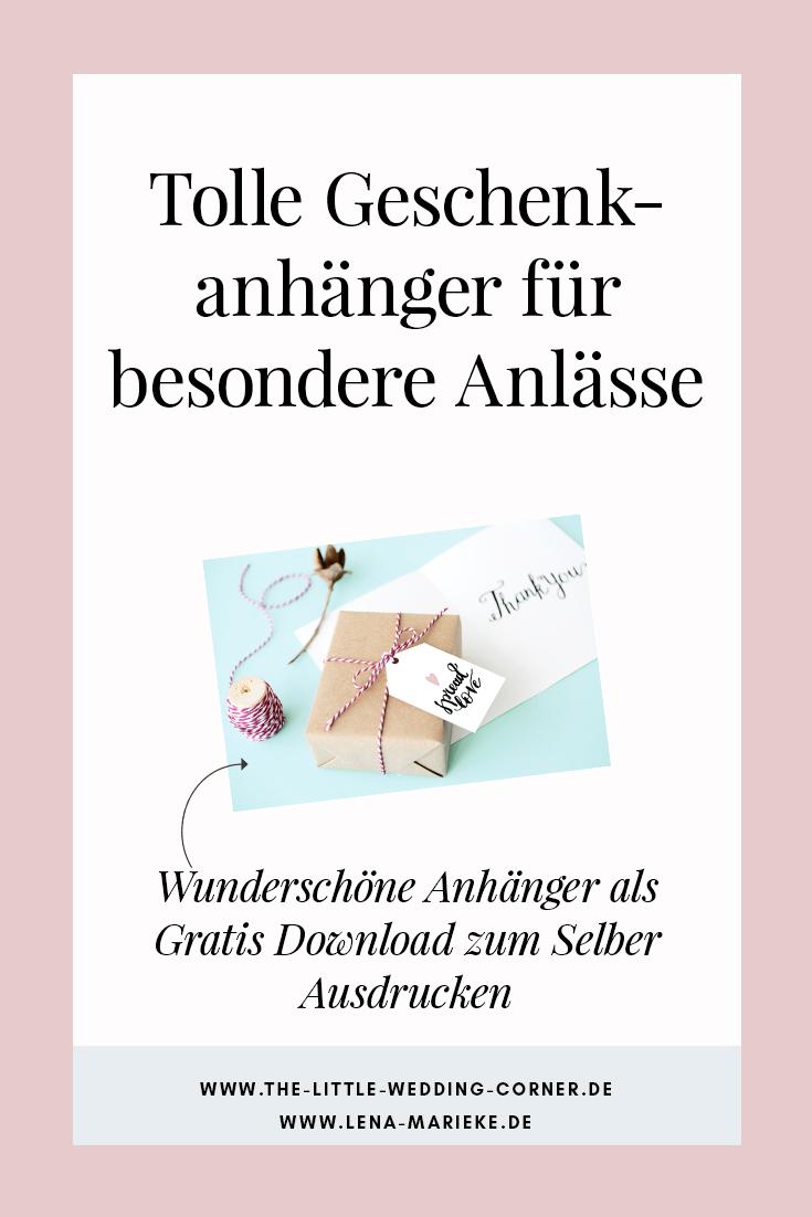 Geschenkanhänger Freebie Zum Ausdrucken Für Alle Anlässe