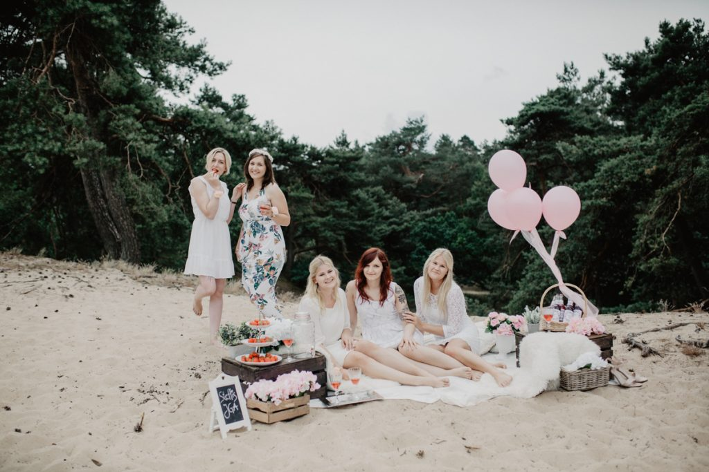 JGA Picknick in den Sanddünen