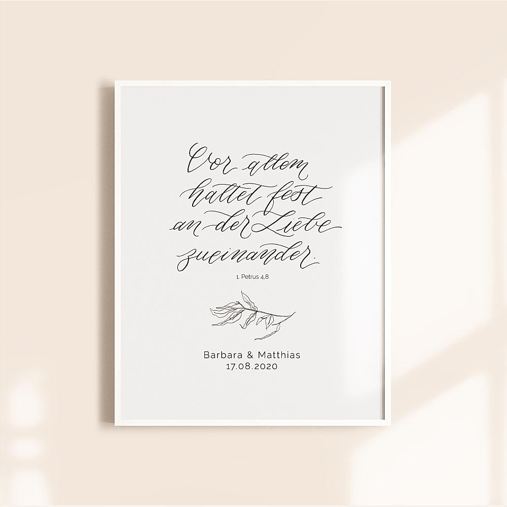 Hochzeitsgeschenk Poster, Hochzeitsgeschenk personalisiert