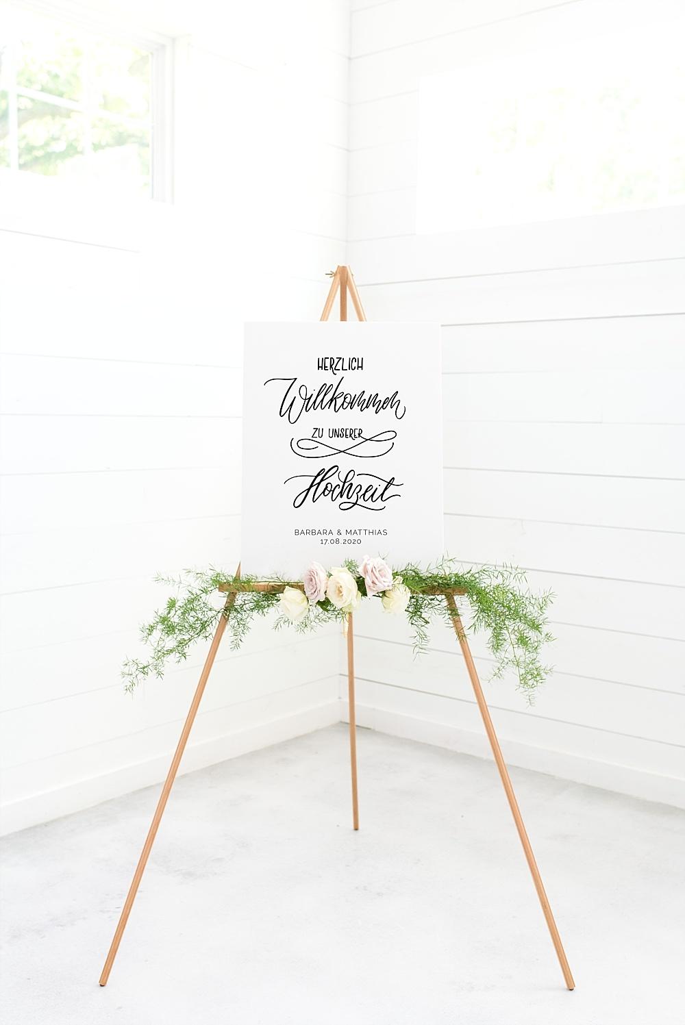 Herzlich Willkommen zur Hochzeit Schild, Willkommensschild Hochzeit