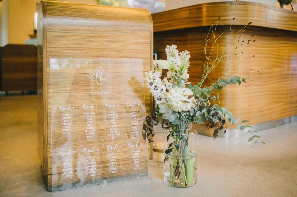 Sitzplan Hochzeit Acryl