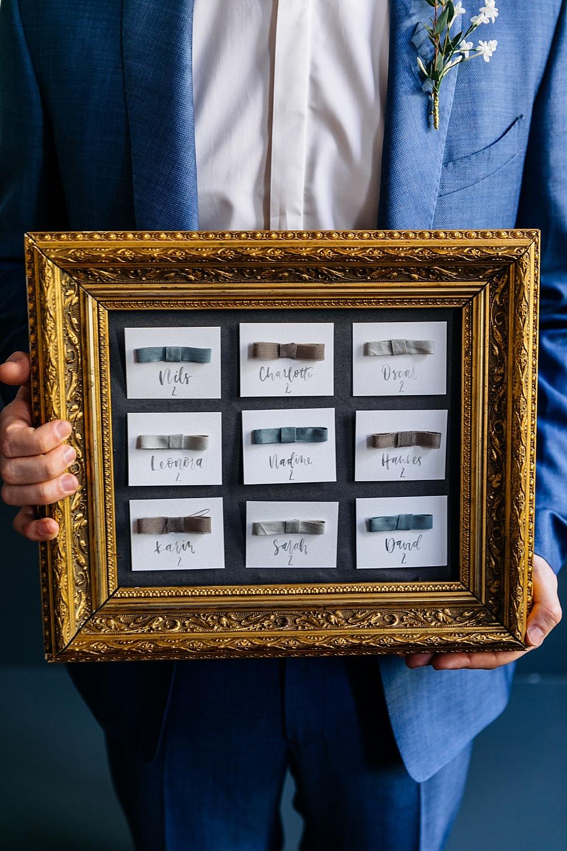 Sitzplan selber basteln für Hochzeit im Rahmen, Vintage Rahmen für Sitzplan Hochzeit, Sitzplan im Goldrahmen DIY