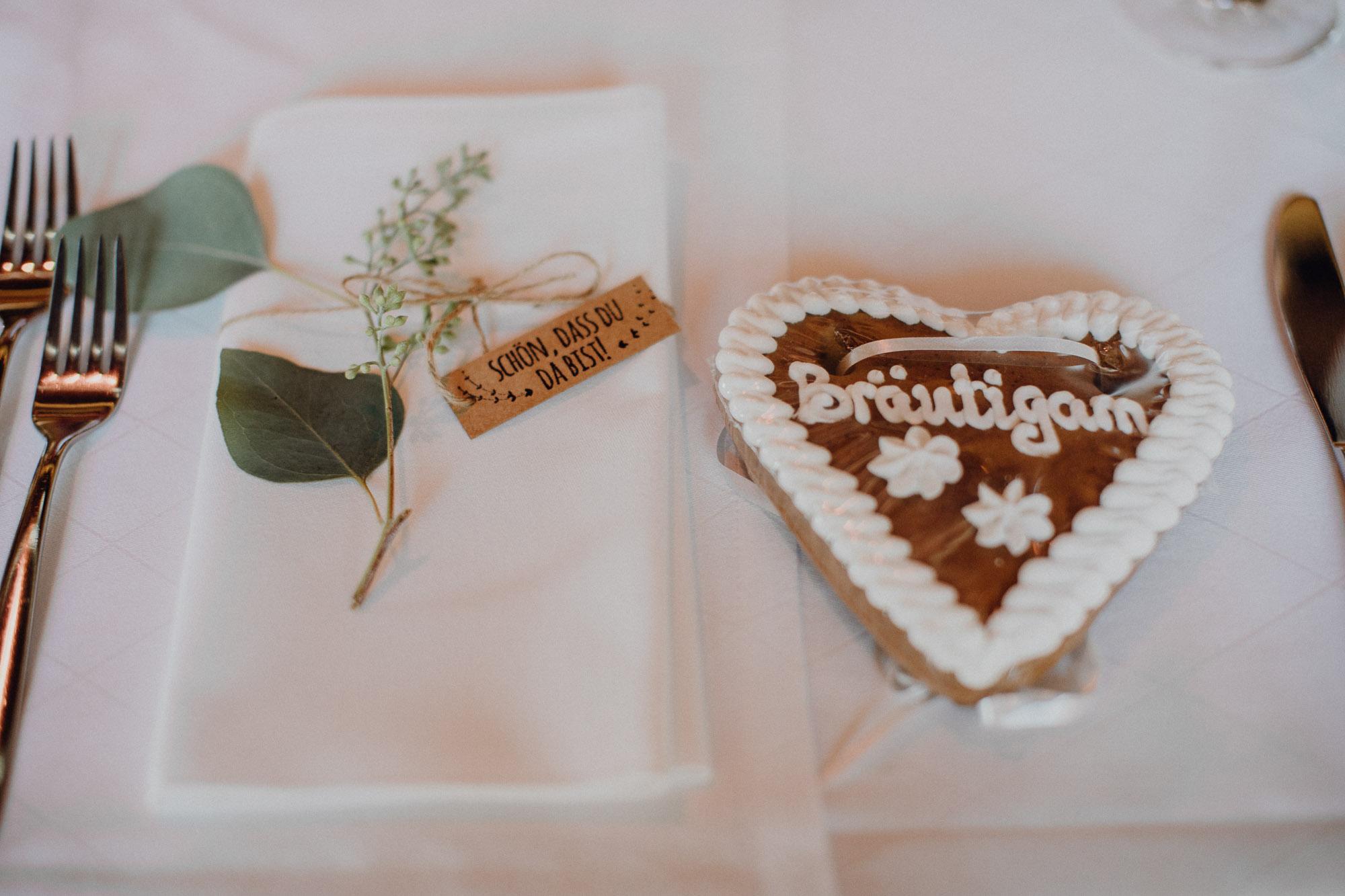 Gastgeschenk Lebkuchen Hochzeit, Lebkuchenherz als Gastgeschenk Hochzeit