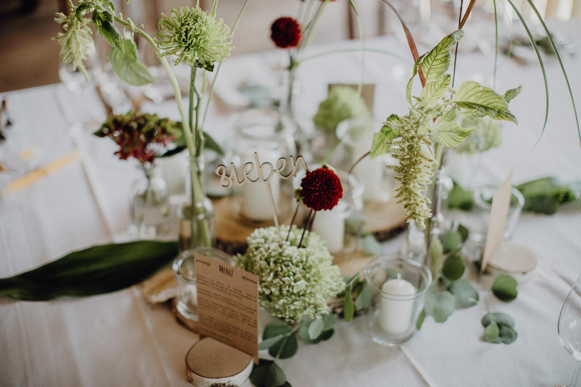 Tischnummer Hochzeit Ideen