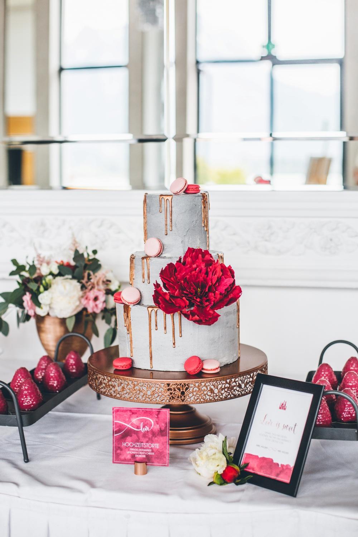 Hochzeitstorte Drip Cake, Hochzeitstorte Concrete Cake