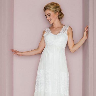 Schwanger heiraten: Schöne Brautkleider für die Schwangerschaft von küssdiebraut