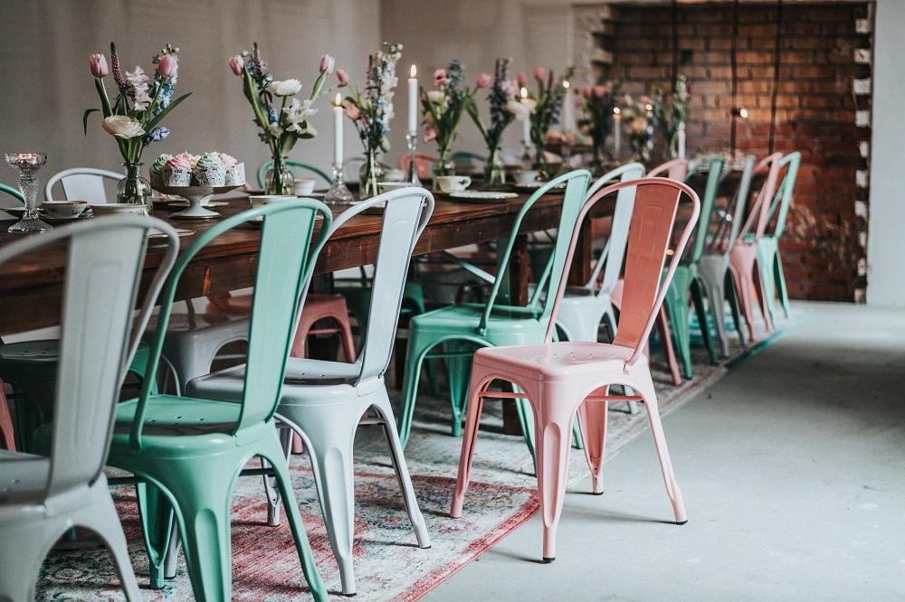 Metallstühle Hochzeit Industrial mieten