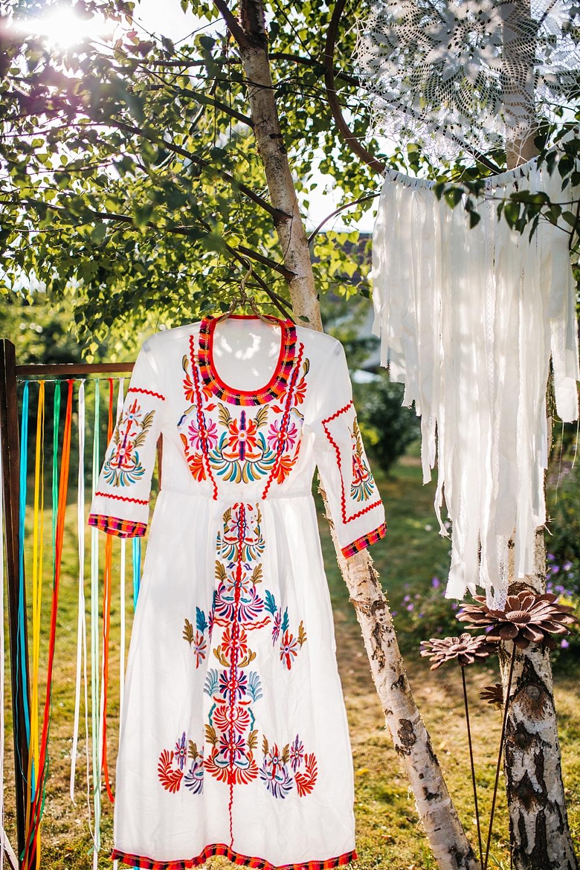 Midsommar Hochzeit, Brautkleid Folklore, Folklore Brautkleid für Midsommar,