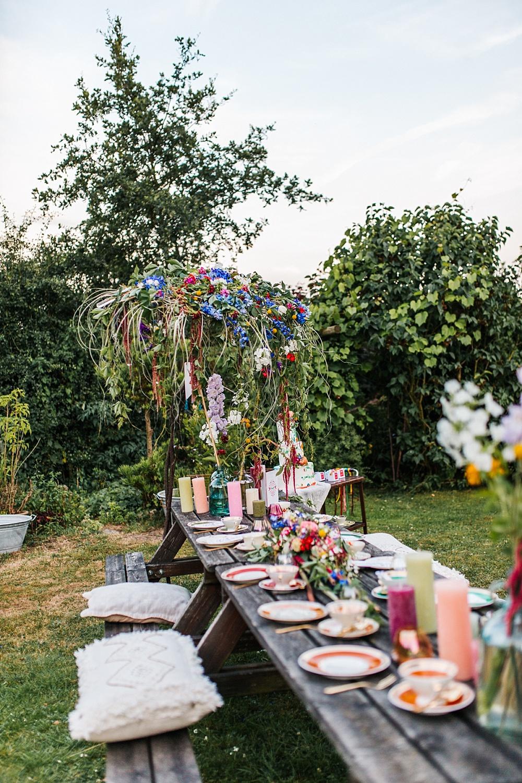 Tischdekoration Midsommar Fest, Tischdeko Ideen Midsommar