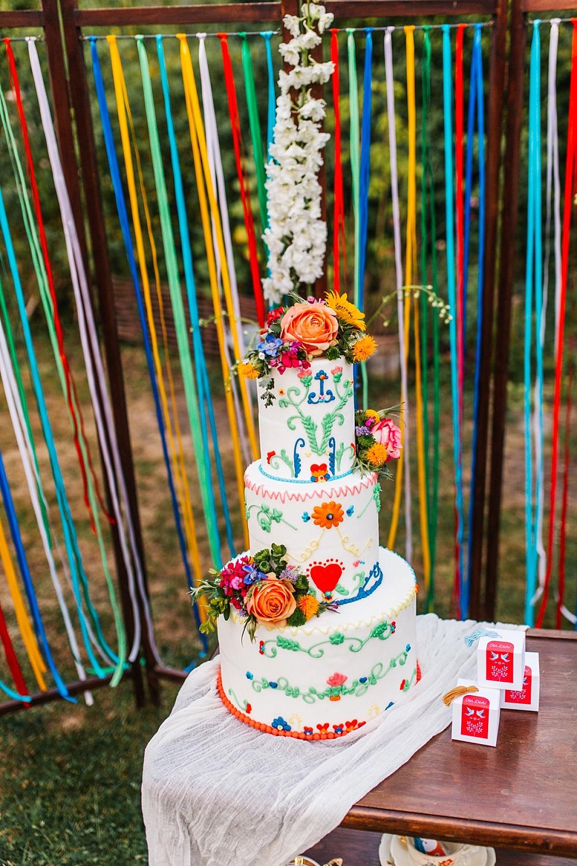 Hochzeitstorte Folklore, Hochzeitstorte Midsommar