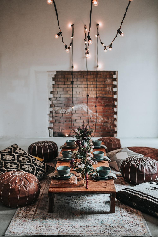 Möbel mieten und Hochzeitsdeko leihen in Berlin Brandenburg, Loungemöbel Boho, Boho Hochzeit Lounge