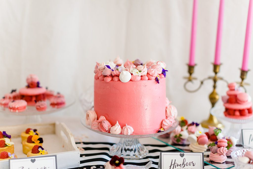 Torte pink Brautparty
