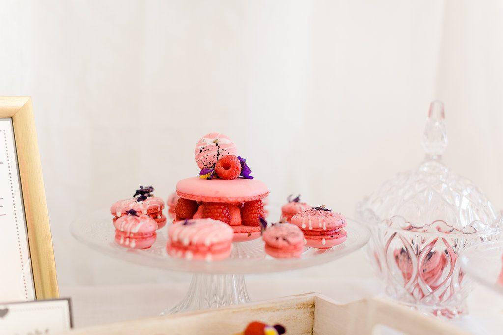 Macaron Törtchen pink