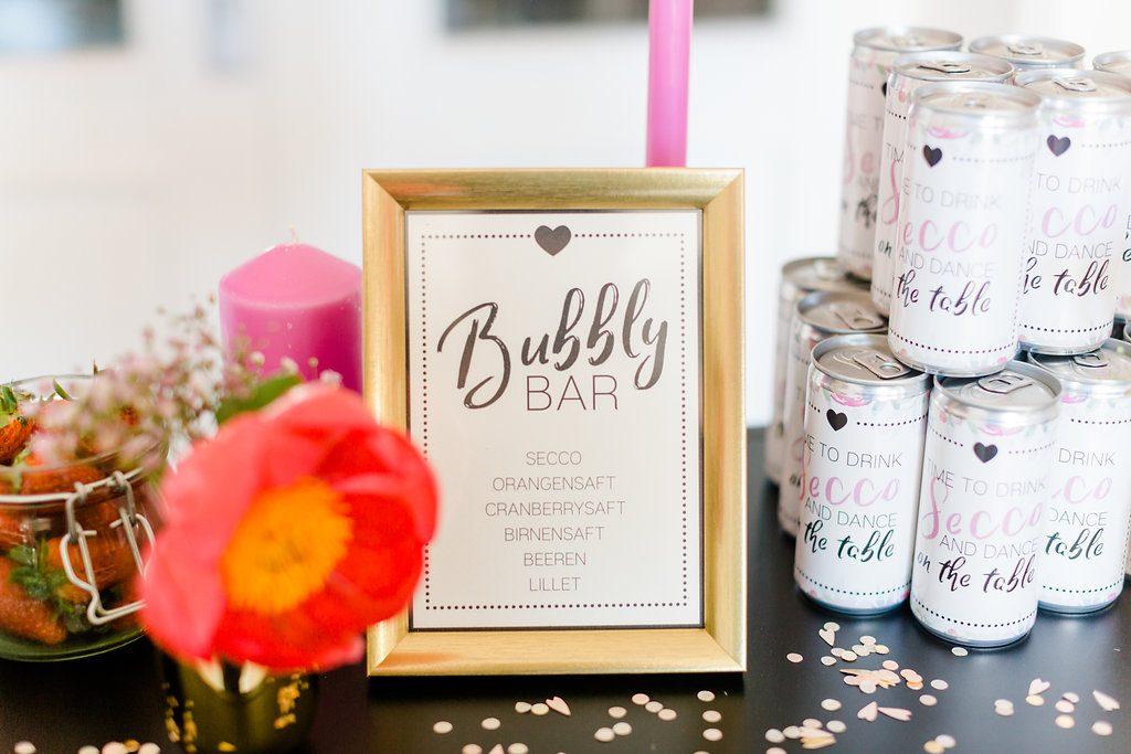 Bubbly Bar Hochzeit und Brautparty, Bubbly Bar JGA