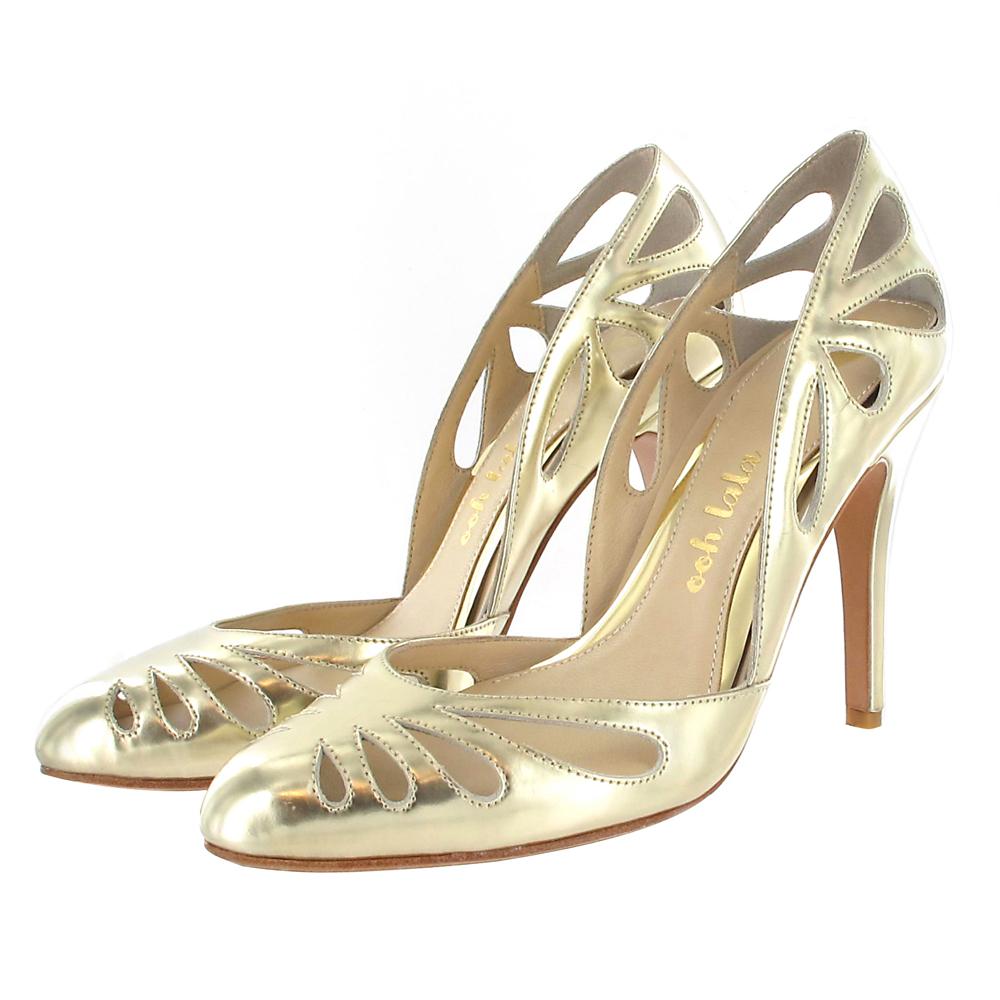Brautschuh Gold, Schuhe Hochzeit